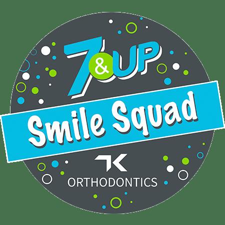 The 7&UP Smile Squad orthodontics logo