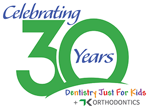 Dentistry Just for Kids celebrating 30 years logo