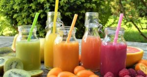 Healthy fruit smoothies for kids in the summer
